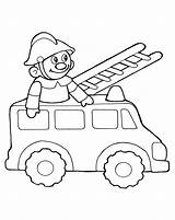 Coloring Fire Truck Toy Pages Toys Children sketch template