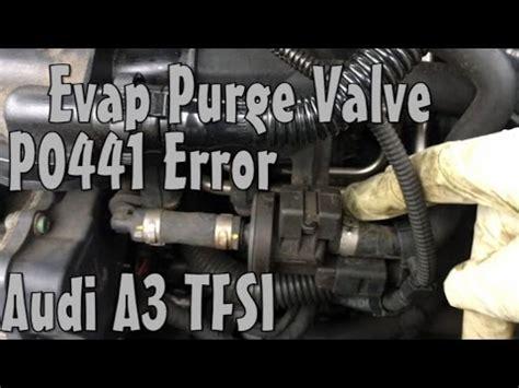 audi  evap fuel purge valve p error code replace youtube