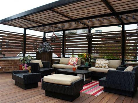 decks  ipe garage roof deck  steel pergola
