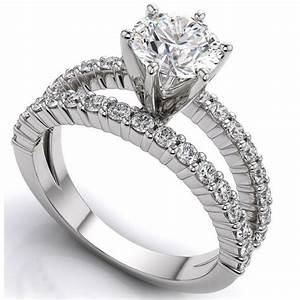 monture diamant rond brillant 4 griffes or blanc bague de With bague mariage