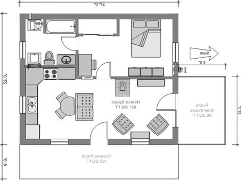 1 home plans home design small houses 1 bedroom house plans