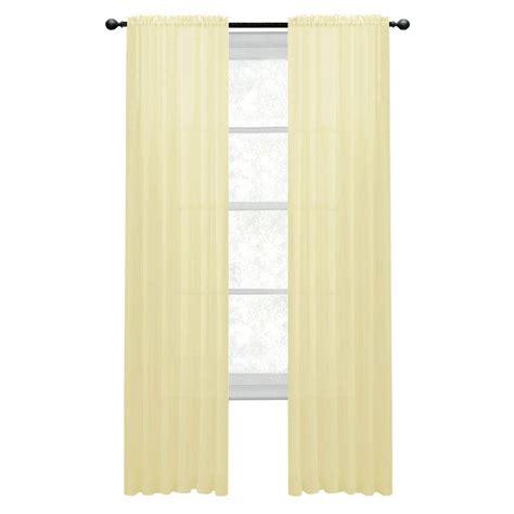 window elements sheer yellow rod pocket wide