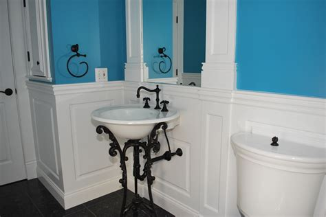 bathroom with wainscoting custom wainscoting bathroom picture ideas