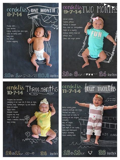 creative monthly baby photo ideas  babys st year