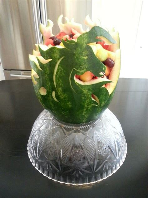 watermelon carving horse fruit thanksgiving food birthday carvings equine display party wow veggie cakes creations