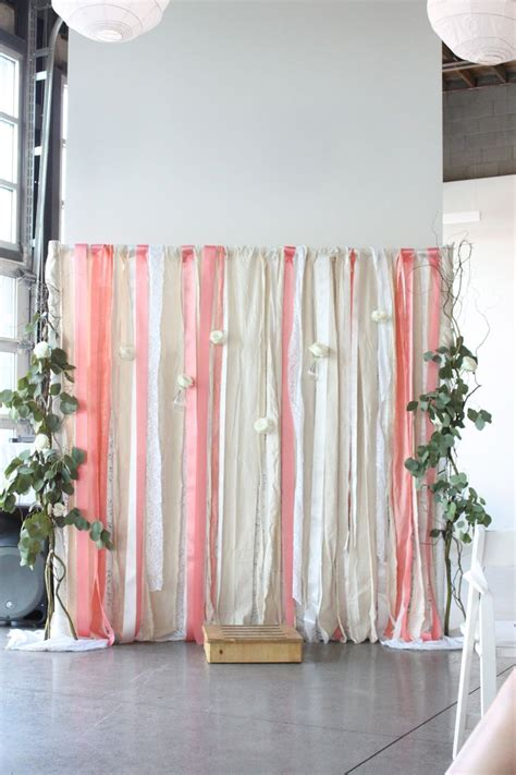 Backdrop Pipe And Drape - lace and ribbon wedding backdrop the ribbon cakes and