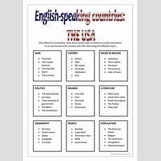 Englishspeaking Countries  Usa Worksheet  Free Esl Printable Worksheets Made By Teachers