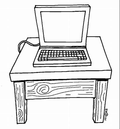 Computer Clipart Clip Workstation Table Discovery Station