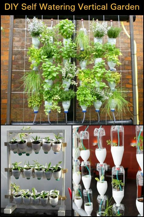 Watering Vertical Gardens by How To Build A Self Watering Vertical Garden Gardening