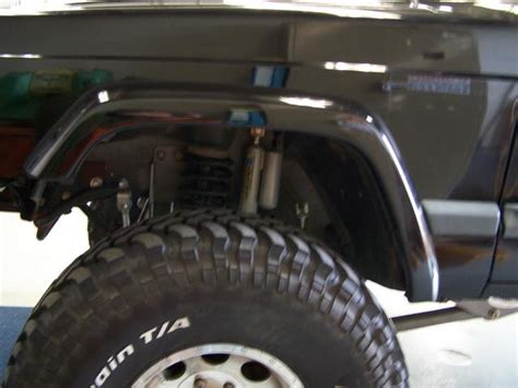 front fender trim write  retaining  stock flare