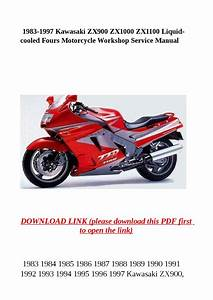 1983 1997 Kawasaki Zx900 Zx1000 Zx1100 Liquid Cooled Fours Motorcycle Workshop Service Manual By