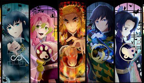 kimetsu  yaiba characters hd laptop wallpaper