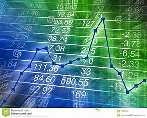 Abstract Financial Chart With Numbers Royalty Free Stock