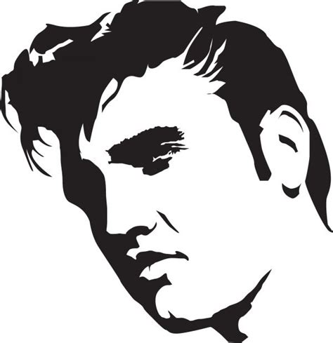 Elvis Presley stencil template:   ?????????   Pinterest   Stencil templates, Elvis presley and