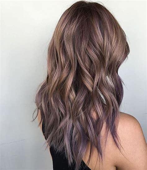 braune haare ombre gemischtes bild balayage braun grau