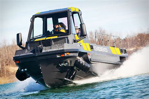gibbs hibious truck phibian is an awesome looking pickup truck speed boat combo