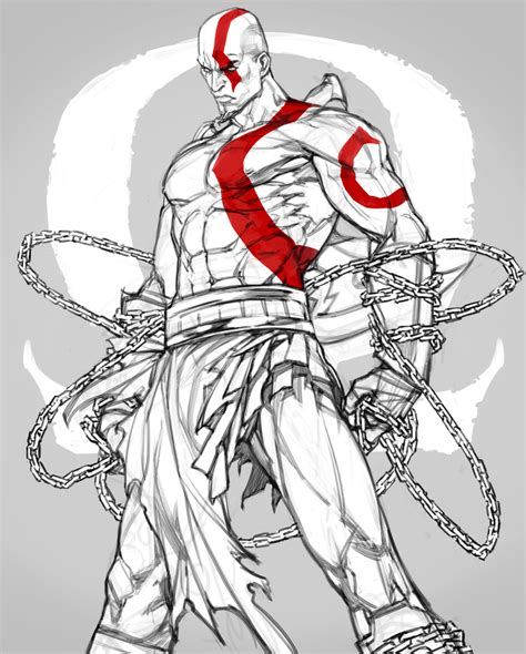 Gow Kratos By Offrecord On Deviantart Characters