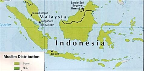 indonesia map religion