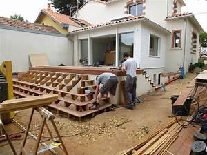 menuiserie couronne terrasse bois escalier saint With amenagement terrasse exterieure appartement 14 menuiserie couronne amenagement de combles et agencement