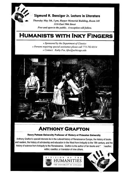 anthony grafton speak university chicago libris
