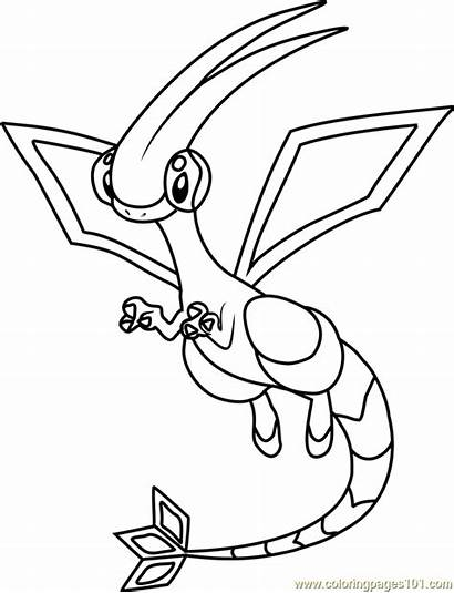 Pokemon Coloring Flygon Pages Grass Type Reshiram