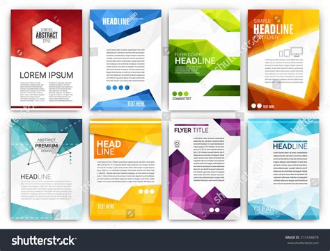 poster design template poster design template set abstract modern stock vector 374348878