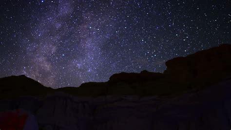Milky Way Galaxy Timelapse Mojave Desert Red Rock