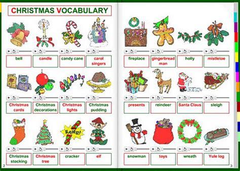 Eoipiedralavesmercury Christmas Vocabulary