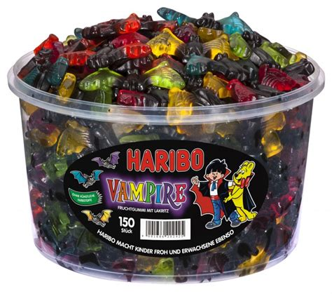 Haribo Vampire Fruchtgummi & Lakritz 150 Stück