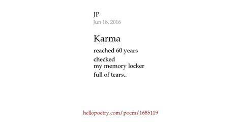 written on my karma by jp hello poetry