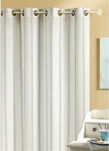Rideaux Rayures Verticales : voilage etamine rayures verticales taupe blanc lin gris homemaison vente en ligne ~ Teatrodelosmanantiales.com Idées de Décoration