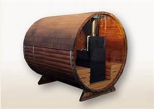 Sauna Mit Holzofen : bambino panorama 2 7m tonnensauna mit glaswand und terrasse mit elektroofen badetonnen und ~ Whattoseeinmadrid.com Haus und Dekorationen