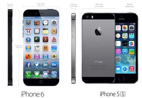 iphone 6 vs 5s iphone 6 phablet vs iphone 5s apple s next big screen