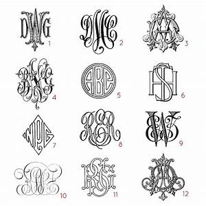 custom three letter monograms choose your style from With custom monogram letters