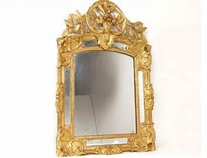 Miroir Cadre Bois : miroir r gence glace cadre bois sculpt dor fleurs coquilles xviii si cle ~ Teatrodelosmanantiales.com Idées de Décoration