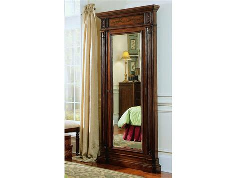 floor mirror jewelry armoire hooker furniture accessories floor mirror w jewelry armoire storage 500 50 558 stacy furniture