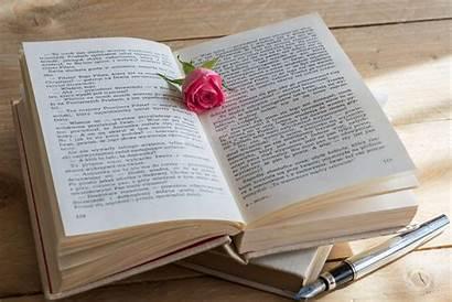 Pen Romantic Rose Flower Story Scene Wooden