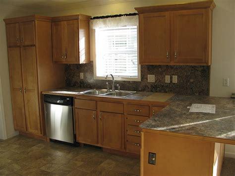 fairmont triple wide home  maple cabinets