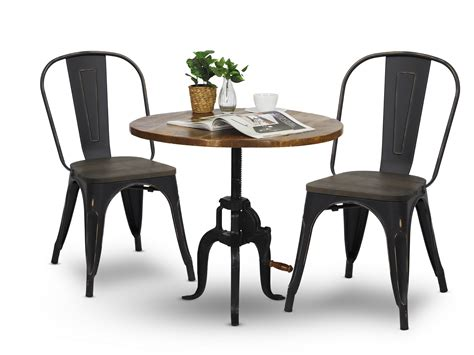 antique black kitchen table beanie dining table with retro metal chair in