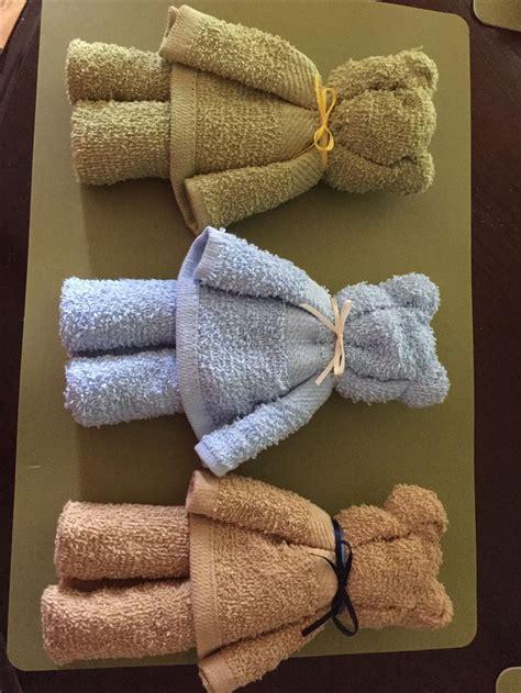 bears   dollar tree hand towels  put