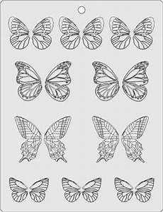 butterfly template stencil for chocolate decorations With chocolate lace template