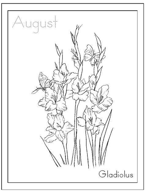 inkspired musings: August's Gladiolus Flower and Meanings