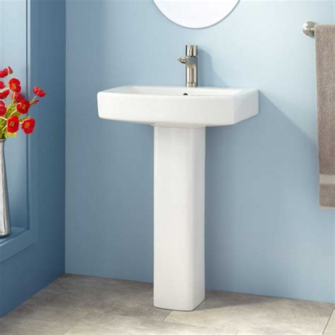 Medeski Porcelain Pedestal Sink   Bathroom