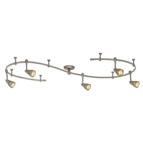 hton bay flexible track lighting hton bay 10 ft 5 light brushed steel line voltage
