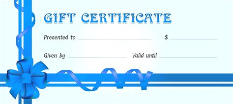Gift Certificate Template Word Template Editable Gift Certificate Template