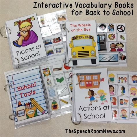 interactive vocabulary books for back to school 204 | 8eb83257b395c797a3c74884cdc85807