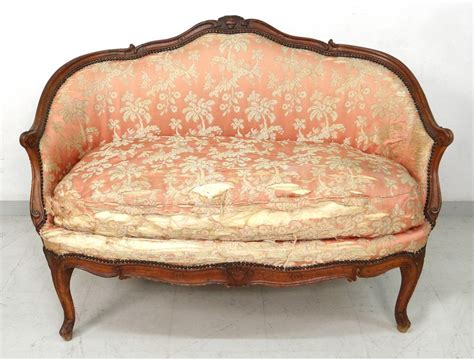 canapé louis xv sofa bench carved walnut louis xv trash st tilliard