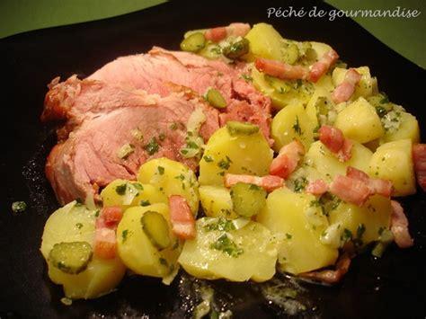cuisiner la pomme de terre la schiffala palette de porc fumée et sa salade de