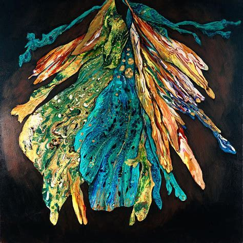 Debbie Arnold Poured Abstract Paintings Yupo Watercolor