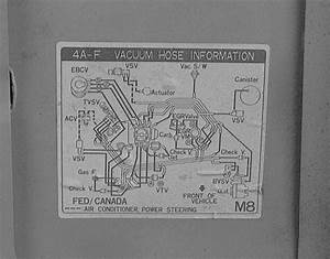 1986 Toyota 4a C Engine Vacuum Diagram